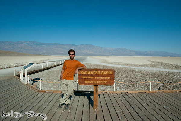 Badwater Basin at 282ft below sea level