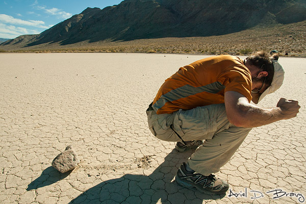 Playing with the Racetrack Playa rocks
