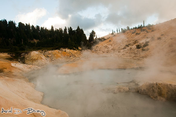 Steaming sulfur pool
