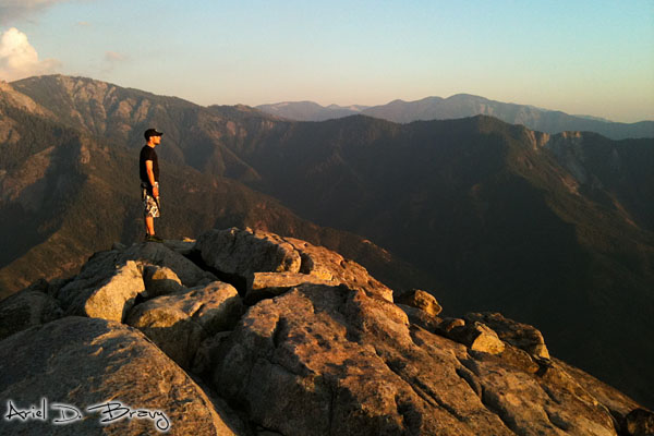 Ugo on Moro Rock at sunset