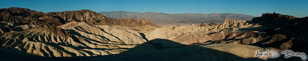 Zabriskie Point sunrise panorama
