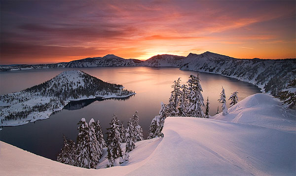 Crater Lake in the Winter by Marc Adamus