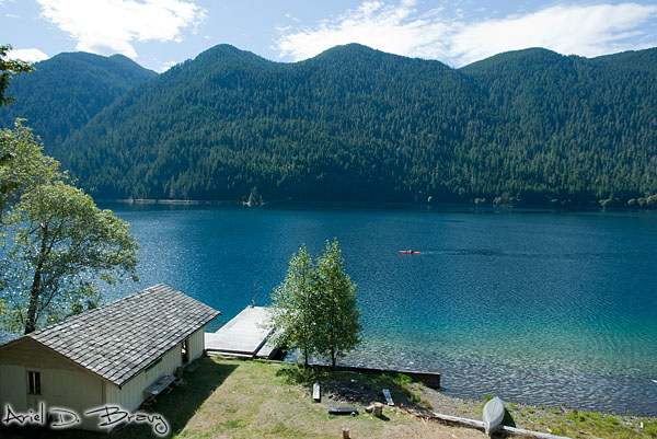 View of Lake Crescent from the lakehouse balcony