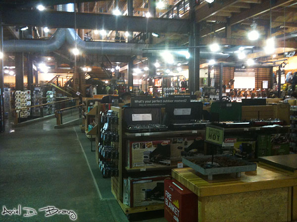 Inside of REI Seattle