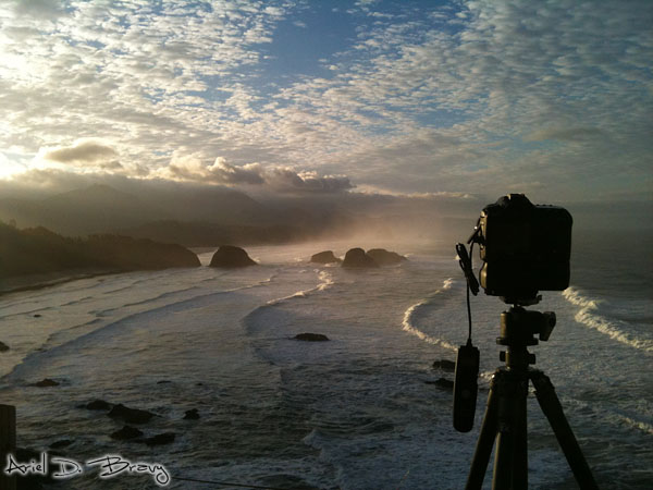 Shooting sunrise at Ecola State Park