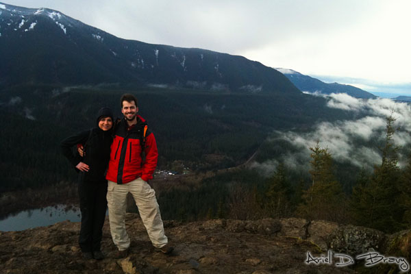 Anna and Ariel at Rattlesnake Ridge