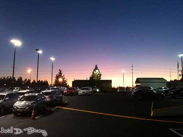 another sunset over the lot