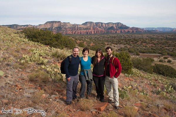 Matt, Julie, Anna, and Ariel in Sedona, AZ