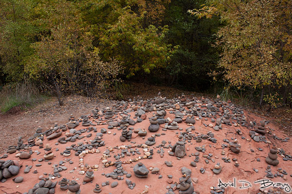The first set of stacked rocks