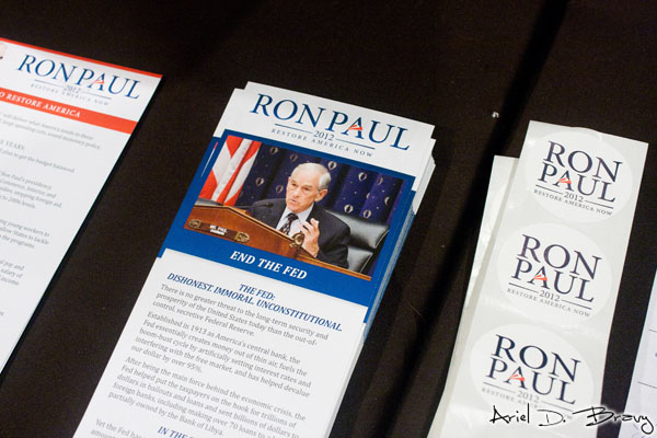 Ron Paul pamphlets and stickers