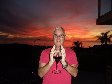 Brian wine sunset