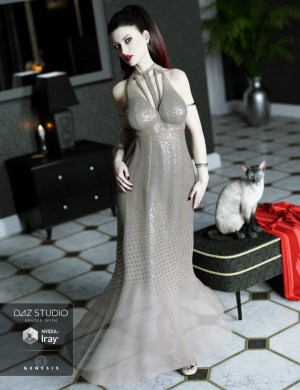 Maxi Dress for Genesis 3 Female