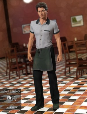Waiter Uniform for Genesis 3 Male(s)