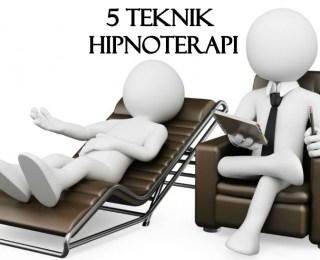 5 Teknik Hipnoterapi