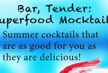 This week's free eBook: Superfood Summer Mocktails!
