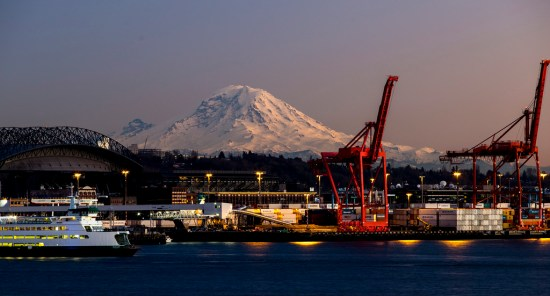 Mt. Rainier and Pier 66