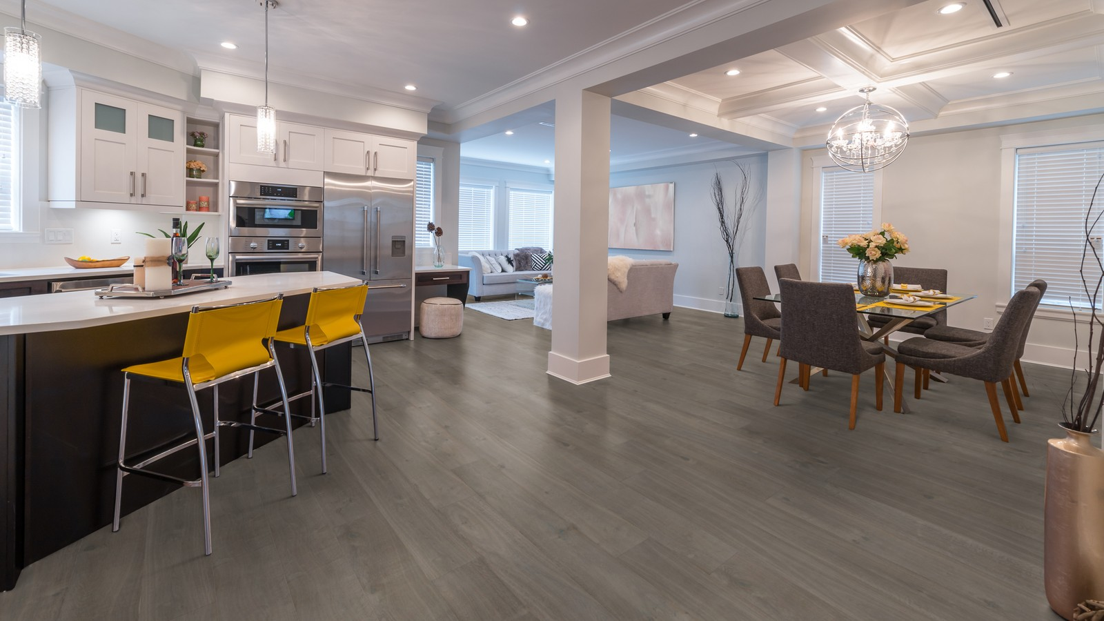 flooring living room kitchen pretty colors for make the your new wide plank arimar