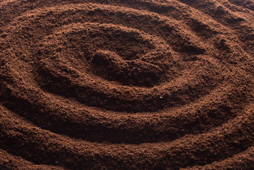 fotografie voor aan de muur kunst schilderij kleur gemalen koffie bruin in spiralen