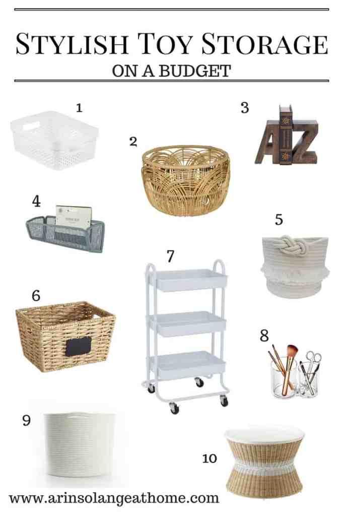 Stylish Toy Storage on a Budget - www.arinsolangeathome.com