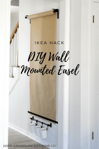 Wall mounted paper roll art easel