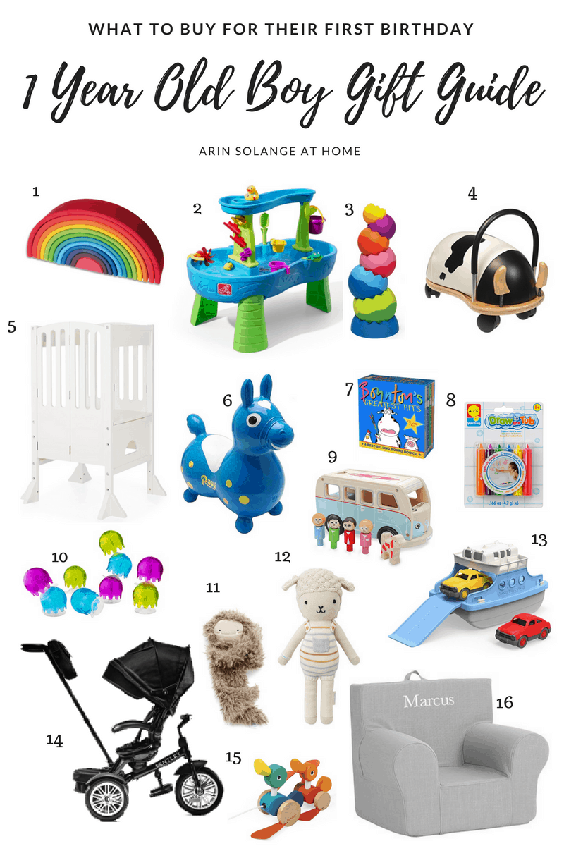 One Year Old Boy Gift Guide
