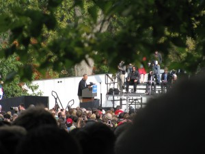 Obama at Bascom Mall Rally in Madison, Wisconsin
