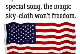 If you don't stand for the special song, the magical sky-cloth won't freedom
