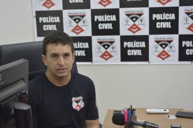 Delegado fala sobre operação em Ariquemes (Foto: Jeferson Carlos)