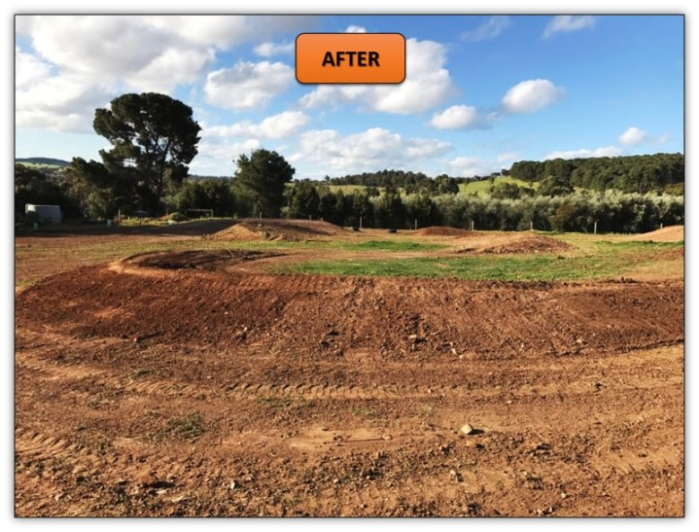 Backyard Excavation Services Adelaide - Motorbike Race Track