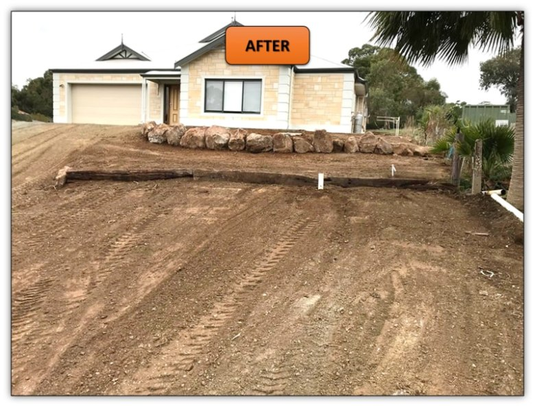 Front Yard Retaining Wall Earthmoving Services Adelaide