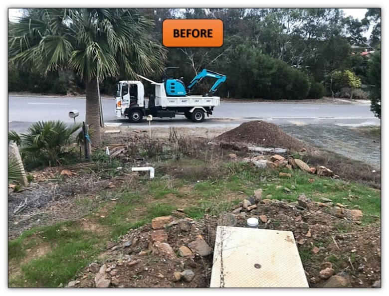 Front Yard Retaining Wall - Earthmoving Services Penrice