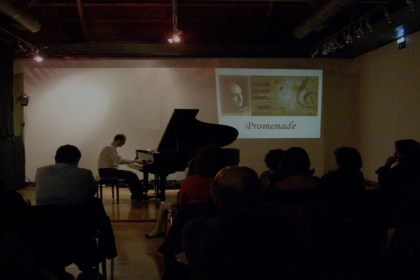 Promenade. Ρεσιτάλ πιάνου του Άρη Γραικούση στη Δημοτική Πινακοθήκη Χανίων με έργα των Moussorgsky, Rachmaninoff και Scriabin.