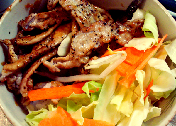 Pork Shogayaki, a delicious Japanese dish