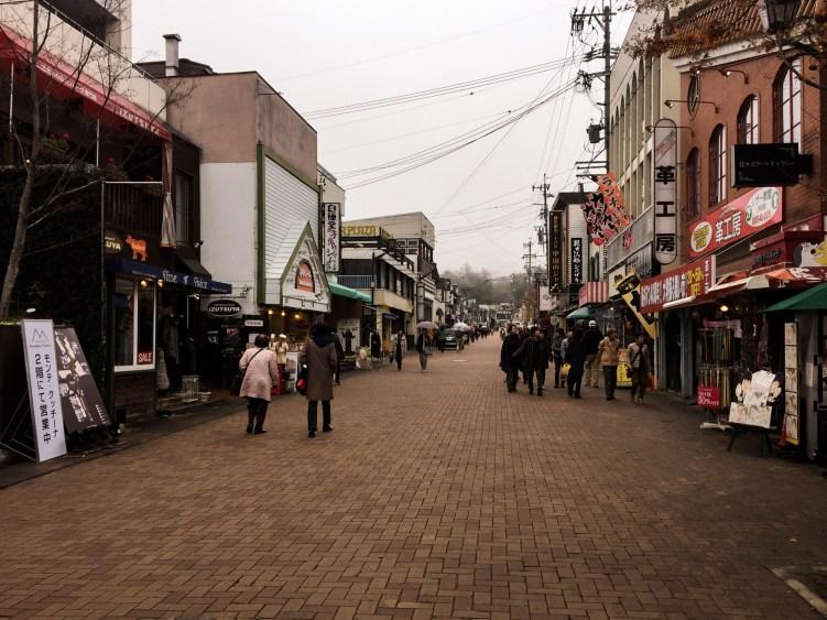 karuizawa ginza shopping street nagano japan