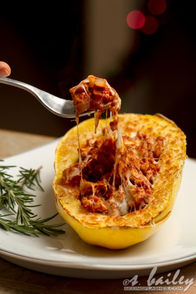 Spaghetti Squash Boats: All the flavor of hearty, comforting spaghetti and meat sauce, in a healthy, low-carb option.