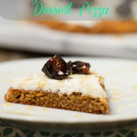 Honey Almond Ricotta Dessert Pizza  {Recipe Redux}
