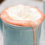 Boozy Red Velvet Hot Chocolate: Rich and decadent with white & dark chocolate + cream cheese melted in!