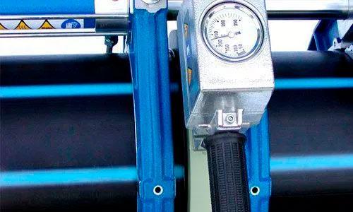 Espejo calefactor - Componentes y descripción de una maquina para soldar a tope