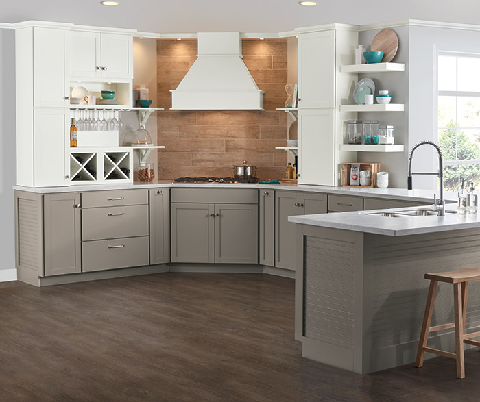 aristokraft kitchen cabinets sink base cabinet stone gray laminate - cabinetry