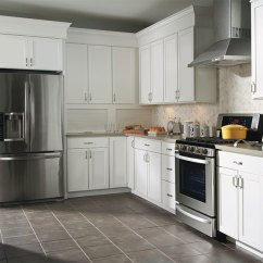 Kitchen Laminate Custom Cabinet White Cabinets Aristokraft Cabinetry Brellin