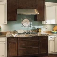 Rustic Kitchen Cabinet Cutler And Bath Vanity With Contrasting Finishes Aristokraft Cabinets By