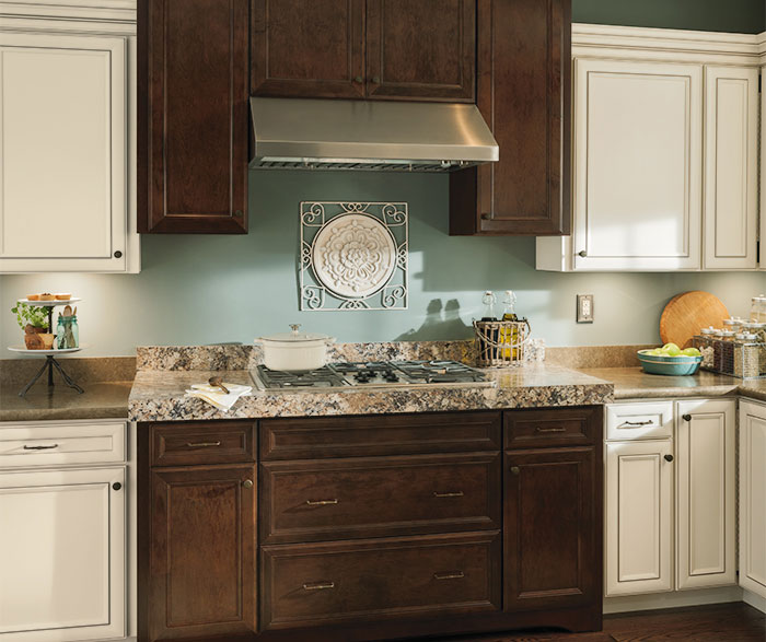 rustic kitchen cabinet home depot kohler sinks with contrasting finishes aristokraft cabinets by