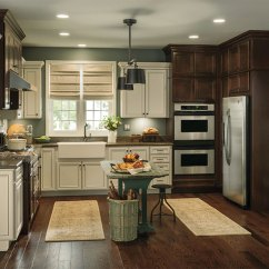 Rustic Kitchen Cabinet Home Depot Unfinished Cabinets With Contrasting Finishes Aristokraft By Cabinetry