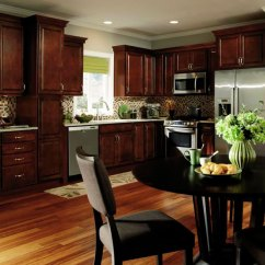 Kitchen Organization Products Distressed Cabinets Dark Cherry - Aristokraft Cabinetry