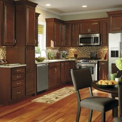 Kraftmaid Kitchens Gallery Laminate Or Engineered Wood Flooring For Kitchen Dark Cabinets - Aristokraft Cabinetry