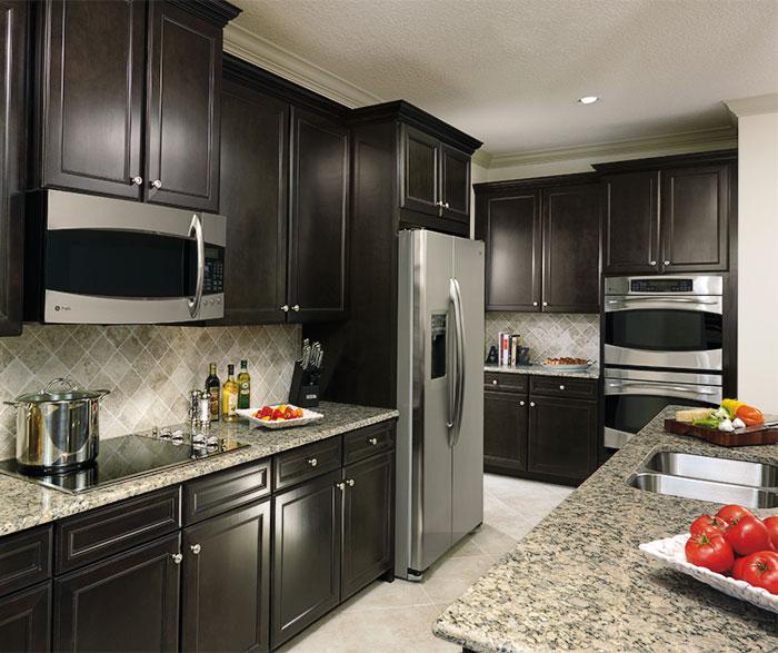 Sarsaparilla Cabinets in Casual Kitchen  Aristokraft