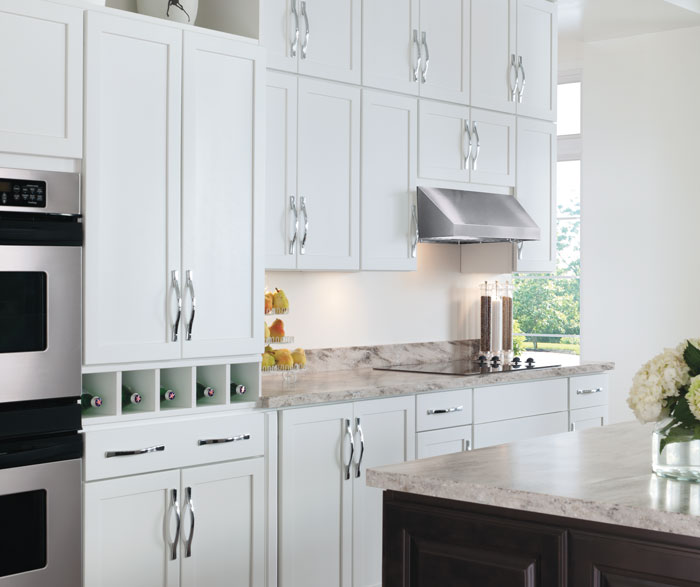 white kitchen cabinets cabinet hardware painted aristokraft cabinetry by