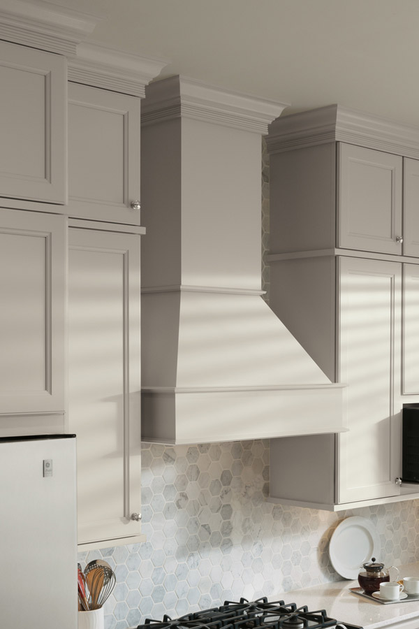 Square Wood Hood  Tall Chimney  Aristokraft Cabinets