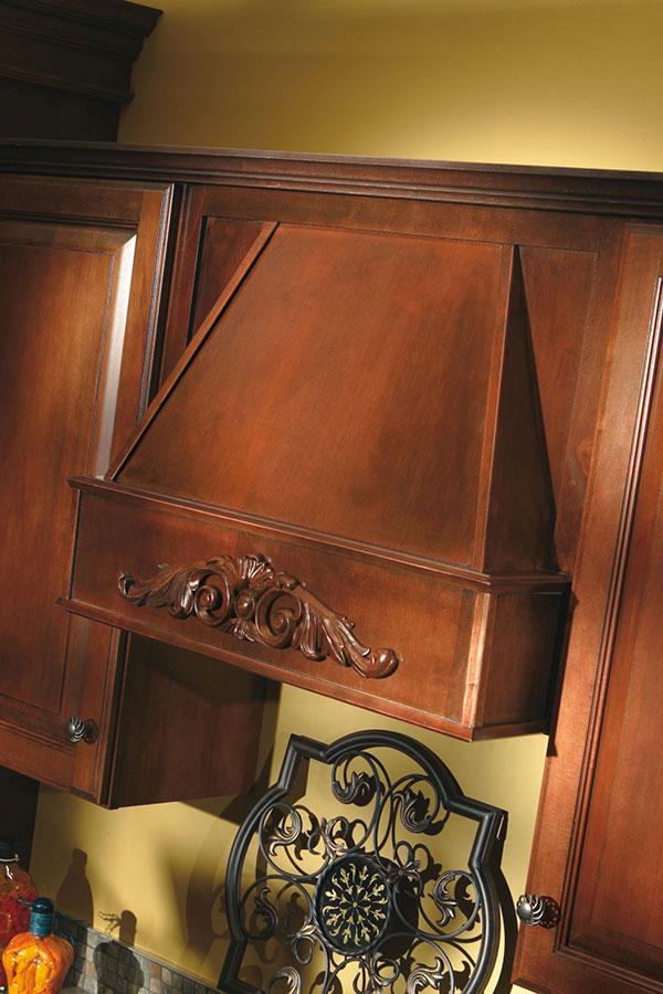 buy used kitchen cabinets moen chateau faucet tapered wood hood - aristokraft cabinetry