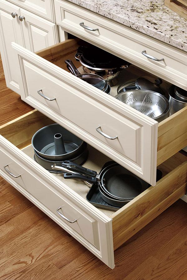 Three Drawer Base Cabinet  Aristokraft Cabinetry